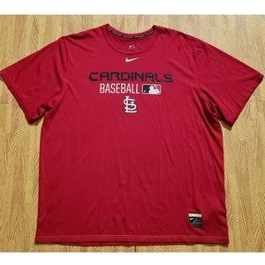 Cardinals Baseball Nike Dri-Fit Red Athletic Shirt